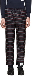 Thom Browne Navy Striped Lounge Pants