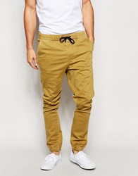Quiksilver Trouser In Slim Fit Stretch With Cuffed Bottom Dullgold