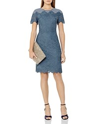 Reiss Floran Lace Sheath Dress Slate