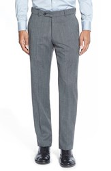 Men's Big And Tall Ballin Flat Front Tweed Wool Trousers Grey