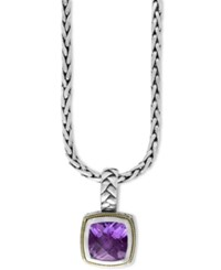 Effy Collection Balissima By Effy Amethyst Pendant Necklace 3 9 10 Ct. T.W. In 18K Gold And Sterling Silver
