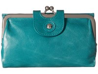Hobo Alice Teal Green Wallet Handbags