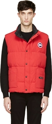 Canada Goose Red Down Freestyle Puffer Vest