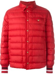 Moncler Gamme Bleu Classic Collar Padded Jacket Red