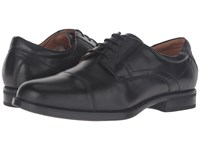 Florsheim Midtown Cap Toe Oxford Black Smooth Men's Lace Up Cap Toe Shoes