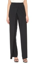 Monique Lhuillier Draped Front Pants Noir
