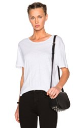 James Perse Relaxed Linen Jersey Tee In White