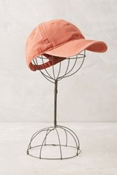 Anthropologie Washed Canvas Baseball Cap Red