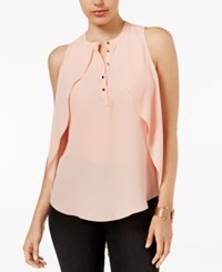 Guess Marie Cascading Blouse Coral Cloud