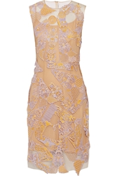 Mary Katrantzou Swiss Lace Appliqua D Tulle Dress