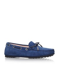Tod's Gommino Suede Driving Shoe Female Denim