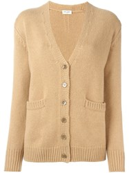 Saint Laurent Classic Cardigan Nude And Neutrals