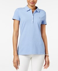 Tommy Hilfiger Solid Polo Top Blue