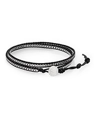Jan Leslie Leather Wrap Bracelet No Color