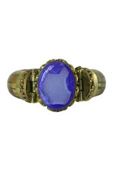 Helene Jewelry Royal Blue Agate Druzy Cuff