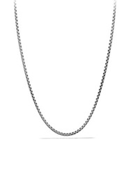 David Yurman Small Box Chain Necklace With Gold 16 Silver
