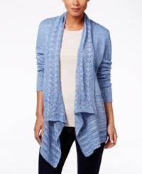 Karen Scott Petite Pointelle Knit Cardigan Only At Macy's Allure Marl