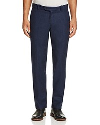 Bloomingdale's The Men's Store At Wool Flannel Classic Fit Trousers Navy