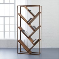 Cb2 V Bookcase Room Divider