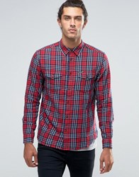 Wrangler Two Pocket Flap Shirt Red