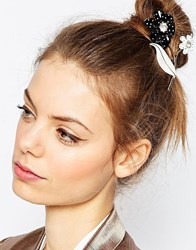 Asos Flower Hair And Body Brooch Black