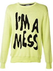 Jeremy Scott 'I'm A Mess' Sweater Green