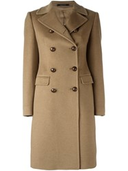 Tagliatore Double Breasted Coat Nude And Neutrals