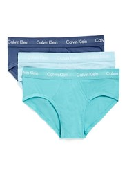 Topman Calvin Klein Blue Briefs 3 Pack