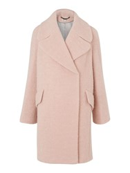 Whistles Penny Double Breasted Coat Pastel Pink