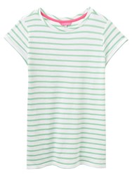 Joules Nessa Relaxed Fit T Shirt Apple Green Stripe