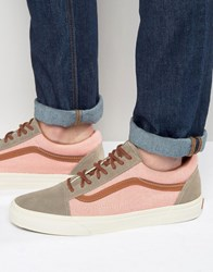 Vans Old Skool Suede Trainers In Pink Va2xs6jw7 Pink