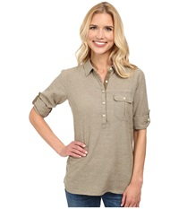 Outdoor Research Coralie L S Shirt Caf Women's Long Sleeve Pullover Brown