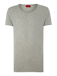 Hugo Plain Scoop Slim Fit T Shirt Grey