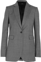 Joseph Laurent Super 100 Wool Twill Blazer Gray