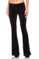 Pam And Gela Slim Flare Velour Pant Black