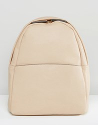 Glamorous Minimal Backpack In Taupe Taupe Beige