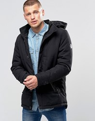 Blend Of America Hooded Heavy Parka Jacket Black Black