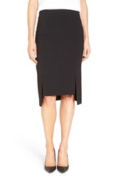 Halogenr Women's Halogen Slit High Low Pencil Skirt