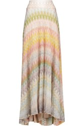 Missoni Crochet Knit Midi Skirt Multi