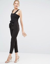 Oasis Tailored Belted Jumpsuit Black