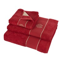 Roberto Cavalli Gold Towel Red Hand Towel