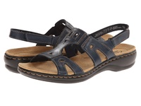 Clarks Leisa Annual Navy Leather Women's Sandals Blue