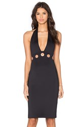 Clover Canyon Halter Midi Dress Black
