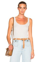 Frame Denim Rib Tank Top In Gray