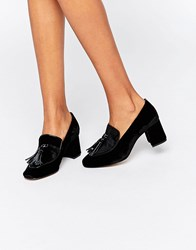 Kg By Kurt Geiger Alexa Tassle Heeled Shoes Black Patent Leather