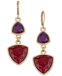 Charter Club Gold Tone Multi Stone Drop Earrings Only At Macy's