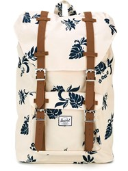 Herschel Supply Co. Leaf Print Backpack Blue