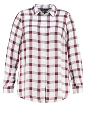 Dorothy Perkins Curve Shirt Berry Off White