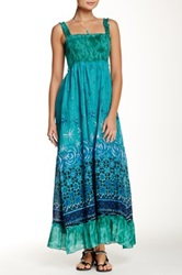 Chaudry Smocked Maxi Dress Green