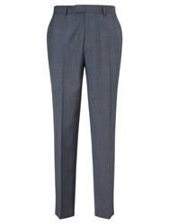 Chester By Chester Barrie Prince Of Wales Check Suit Trousers Pale Blue
